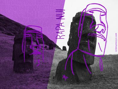 13 Rapa Nui typography visual souvenirs travel moai rapa nui photography photographic design easter island