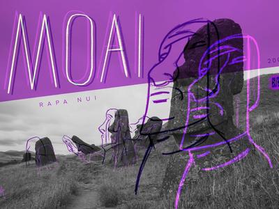 14 Moai experimental photography travel visual souvenirs moai rapa nui easter island typography photographic design