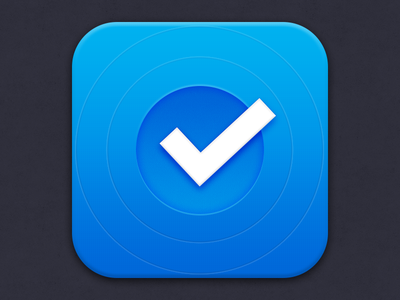 App icon app icon checkmark mail tasks to do iphone ios mobile clean blue photoshop