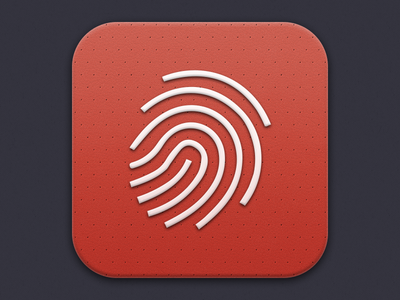 Detective Icon detective fingerprint red iphone app icon