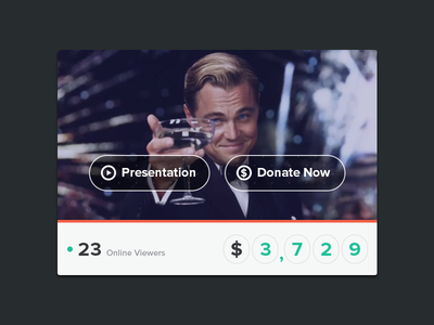 Donations Widget ui widget donations clean user interface photoshop causes psd