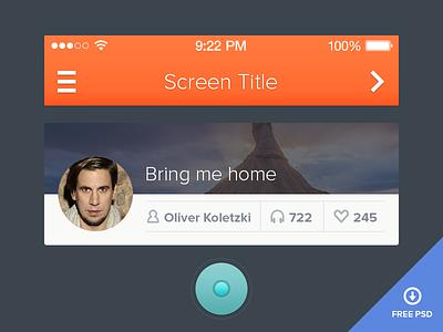 Simple UI - Free PSD included ui iphone ios psd simple interface user interface