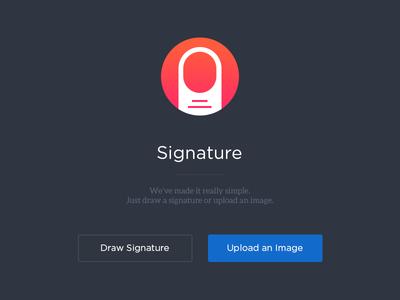 Add Signature ui clean web app interface user interface signature flat