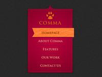 Comma Menu