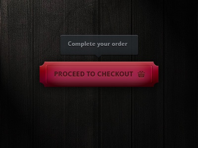 Checkout Button button pink ui element wood food restaurant checkout add to cart