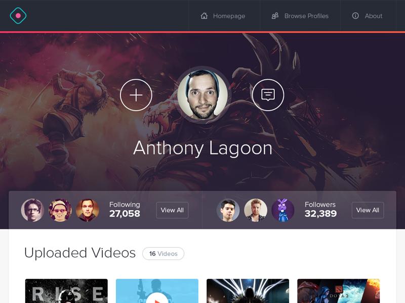 Gamer Profile ui game games app web design web app website user profile ux user interface