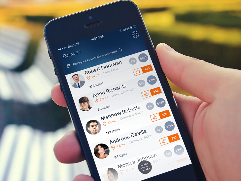 Browse Professionals ui ios iphone ios7 iphoneapp user interface design clean list