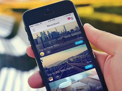 Newsfeed ios iphone iphone app newsfeed ui user interface design