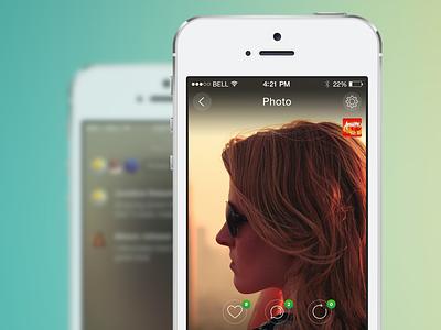 Photo Details app ios ios7 iphone iphone app podium newsfeed ui user interface ux mobile design mobile app