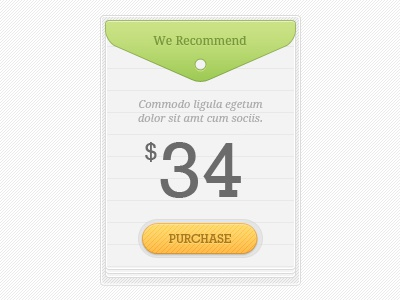 Pricing box for a bookstore pricing box ui user interface tag bookstore purchase button