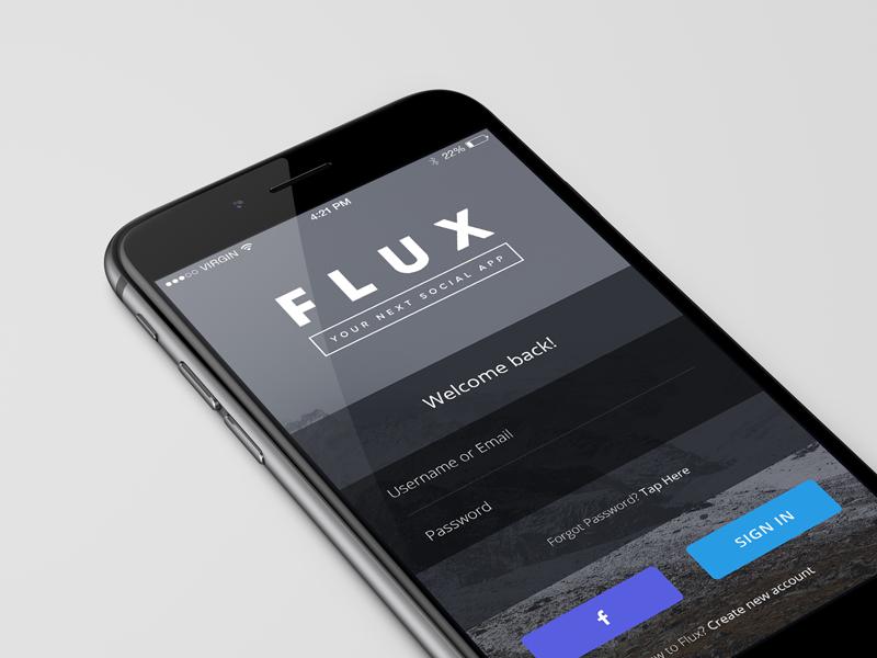Login Screen app app design ios ios app social social app ui user interface ux user experience