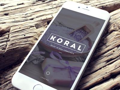 Koral - Loading Screen app ios ecommerce shop ui user interface loading screen iphone app