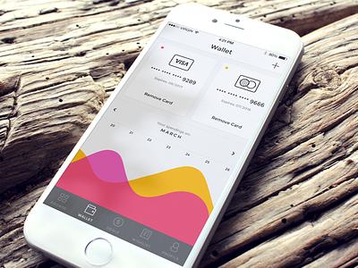 Wallet Screen app ios ios app iphone app sketch ecommerce shop mobile ui user interface
