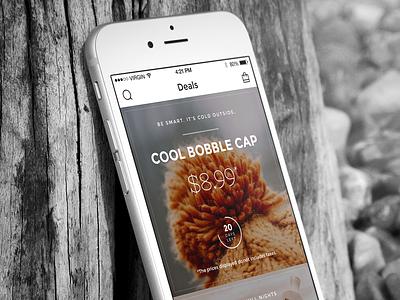 Deals app ios ios app iphone app sketch ecommerce shop mobile ui user interface