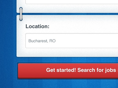 Jobs search application jobs ui user interface application iphone blue textured