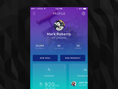 Fitness App Profile