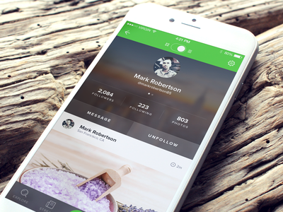 User Profile user interface ui social photo app profile sketch ios app ios app