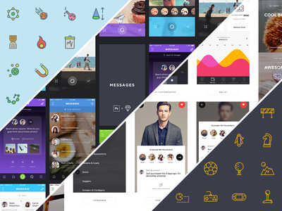 Full Gear Bundle template promo deal bundle ui kit jewel swifticons icons app design app