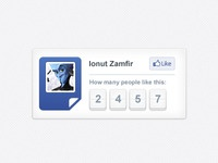 Likes counter for a Facebook app