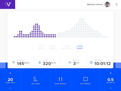 Workout App Concept workout sketch concept fitness ios design app