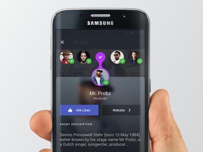 Thumbnail Navigation Pebltree material ui ux user interface ui pebltree android design app