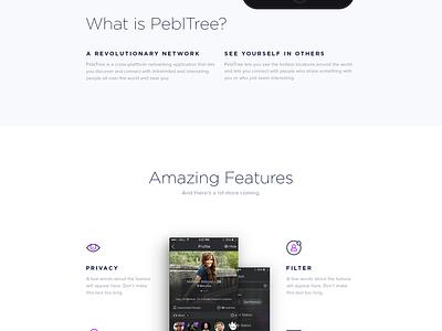 PeblTree Website presentation android app ios app web design website app