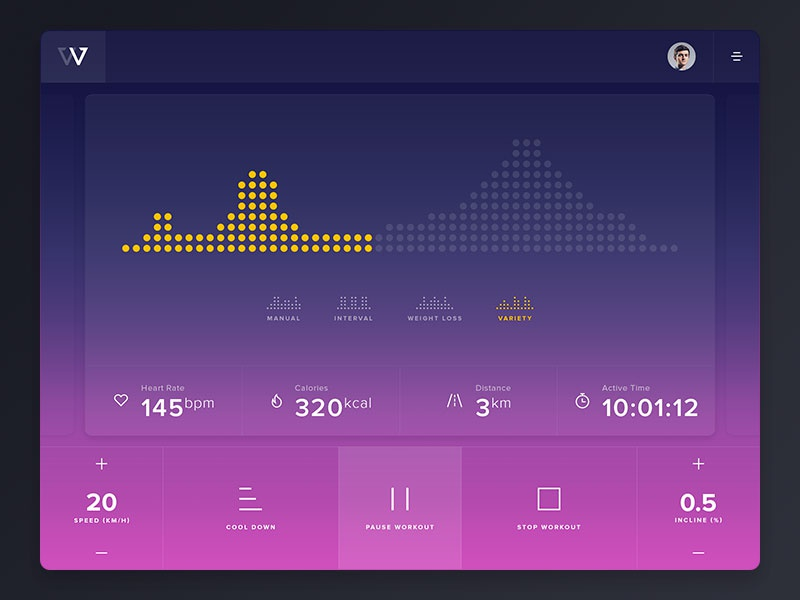 Fitness Interface Concept colorful workout fitness ui interface design app