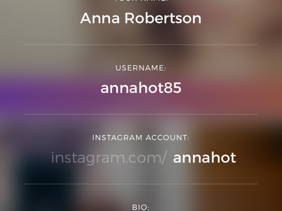 Quick Edit Profile user interface sharing photos social ui sketch ios design app