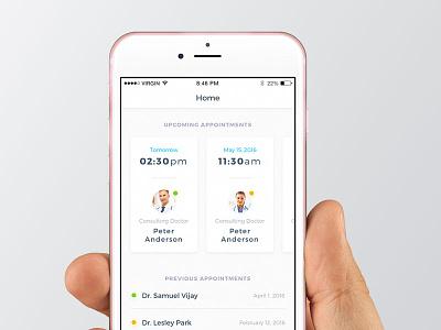 Medical App doctor medical user interface ui sketch ios design app