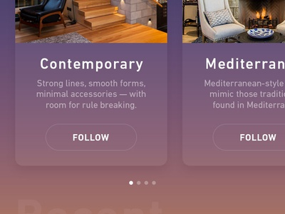 Feed home style furniture user interface ui sketch ios design app