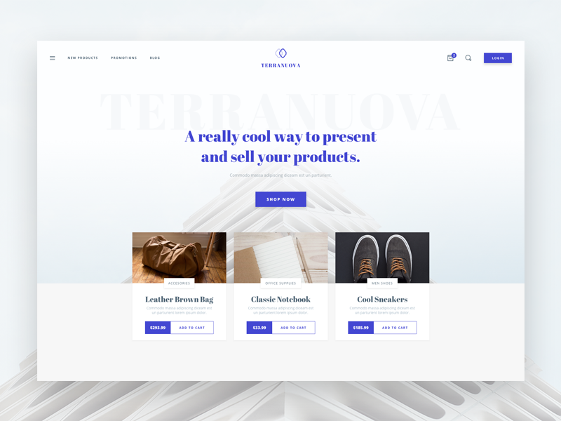 Shop Header ecommerce shop sketch clean ui template design website