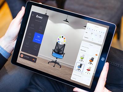 Roomie - Color Picker desktop web ipad furniture responsive design app