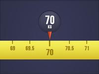 Weight indicator widget