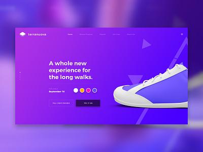Terranuova (Landing Page #5) ecommerce ui product design pack template landing page web design