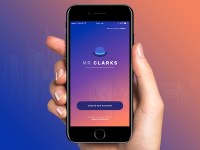 Mr. Clarks gradient colorful user interface ui concept interface design assistant app