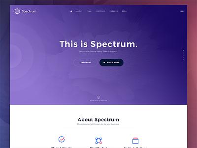 Stellar -- Spectrum (Update) agency web design design website web