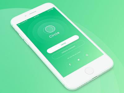 Simple green login login green userinterface ui iphone ios design app