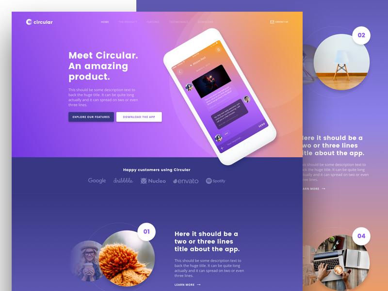 Circular (New Version) web design web wordpress landing page design theme