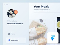 Food App Concept (Desktop Version)