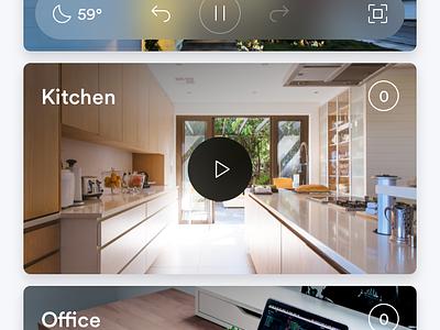 Smart Security Camera App security smart iphone x iphone user interface ui ios app
