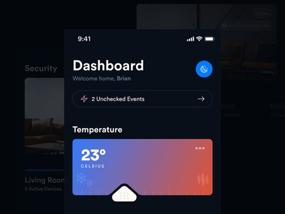 Smart Home Dashboard security smart iphone x iphone user interface ui ios app