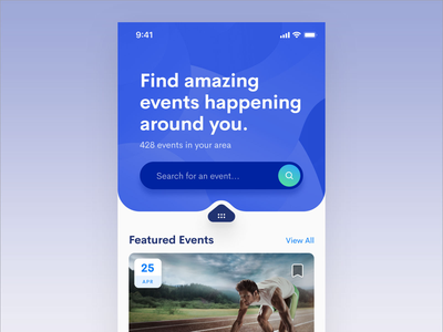 Events App events iphone user interface mobile ui mobile design mobile app