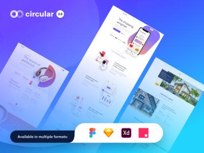 Circular 2.0 - Unique Landing Pages Pack