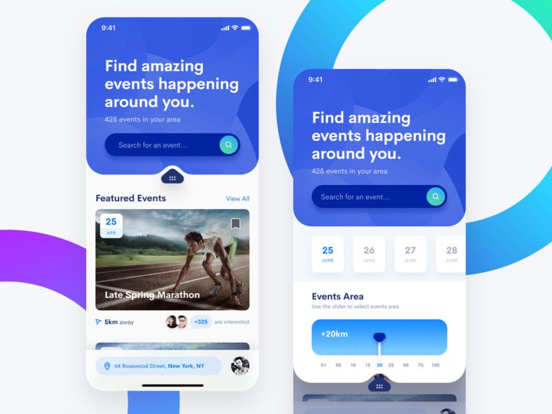 Events App filters events app events ios app figma mobile sketch iphone app iphone clean ios app user interface ui