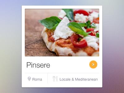 Restaurant widget