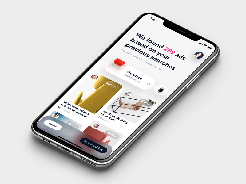 Ads UI ads ios app mobile iphone app design iphone clean ios app user interface ui