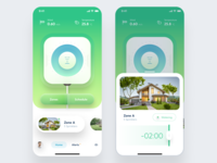 Smart Sprinklers Concept concept app design iphone app iphone ios user interface ui clean design figma sprinklers smarthome smart application app