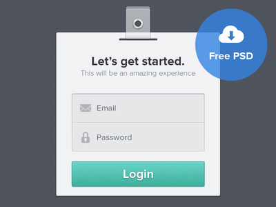 Login Form ui login form clean psd free user interface