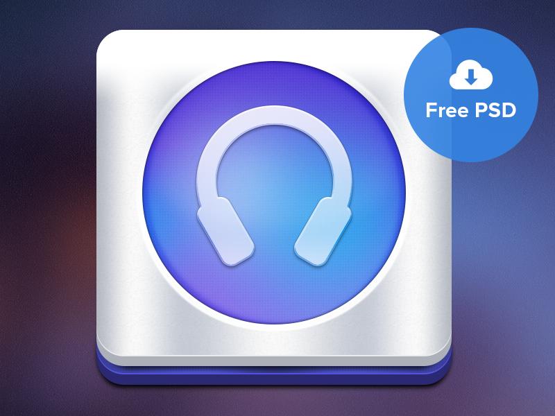 Icon Freebie icon ios iphone app music colorful freebie psd free ui user interface