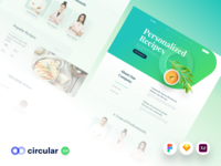 Circular 2.0 - Update fitness nutrition healthy recipes food template theme web design website design web user interface ui